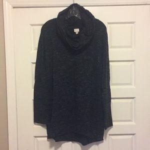 Tunic Style Cowl Neck Shirt